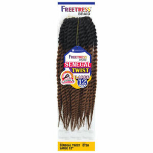 """SENEGALESE TWIST LARGE 12"""" - FREETRESS SYNTHETIC CROCHET BRAID HAIR PRE-LOOPED"""