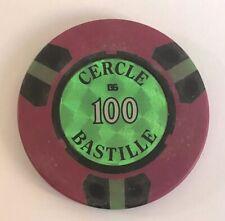 RARE JETON DE 100 CERCLE BASTILLE @ PARIS @ JETON DE CASINO @ BEL ETAT @ TOKEN