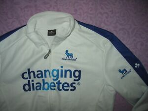 Nalini Large white blue winter windstopper Jersey Diabetes Novo Nordisk Colnago