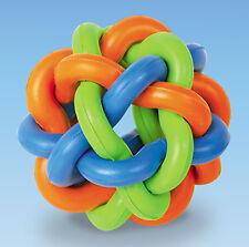Nobby Vollgummi Knotenball 9,5 cm  Ball Gummi Spielzeug Hund HUNDESPIELZEUG