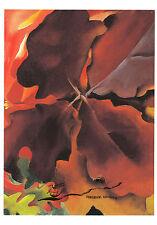 Kunstpostkarte - Georgia O'Keefe:  Eichenblätter