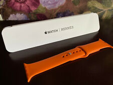 Authentic Hermès Apple Watch 42 44mm strap band orange Hermes sport
