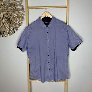 Tarocash Australia Men's Size 2XL Blue Short Sleeve Shirt XXL