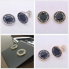 2017 FASHION MARC BY MARC JACOBS 6 COLORS LETTERS DISC STUD EARRINGS #E001X