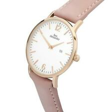 Women's Watch, Rose Gold, Pink Strap, Crystal Sapphire, Swiss Movement