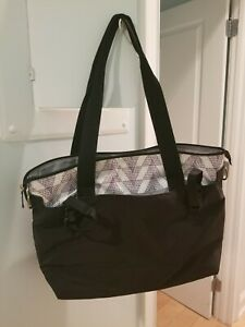 Carter's Black Diaper Bag with stroller attachment