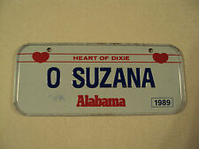 VINTAGE METAL ALABAMA SUZANA POST CEREAL Mini Bike Bicycle Vanity License Plate