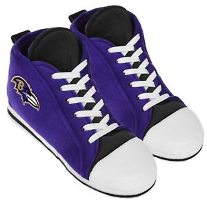 Baltimore Ravens High Top Sneaker SLIPPERS New - FREE U.S.A. SHIPPING