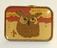 Boy Scout pin vintage Viking Council Minnesota 1990s Webelos Camp owl