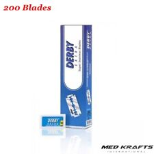 Derby Extra Double Edge Razor Blades, 200 Count !  Best in the Market !!