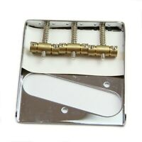 Silver Chrome 3 Copper Saddle Ashtray Bridge For Telecaster TELE Electric Guitar