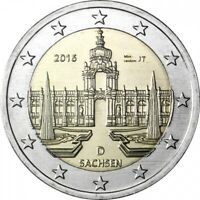 "Germany 2 euro coin 2016 ""Sachsen"" UNC"