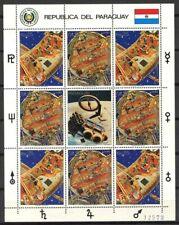 Paraguay 1988 Mi. 4204-4205 Mini Feuille 100% (*) Espace