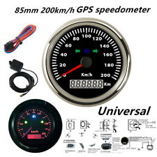 85mm 200km/h Motorcycle GPS Speedometer Odometer for Boat Car Waterproof 12V/24V