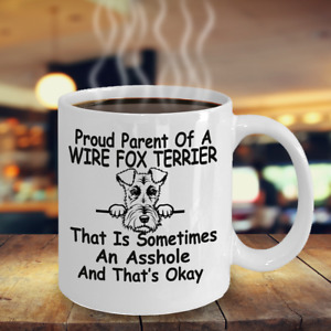 Wire fox Terrier dog,Wire haired fox terrier,Fox terrier,Wire fox,Cup,Coffee Mug