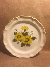 """Mikasa Sunny Side 12.5"""" Cake Chop Plate Round Platter EB802 Excellent!"""