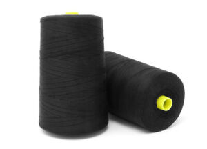 Aquapel | Polyester Cotton Corespun  | M12 Sewing Thread | Black | Anti Wick