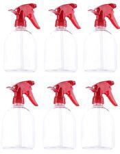 Botellas Plásticas Transparentes De Spray Vaporizador Uso Cosmético Tapa Roja