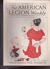 American Legion Magazine Little Boy in Trouble  Cover November 17 1922