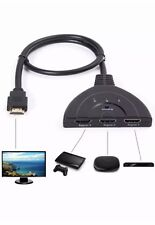 3 Port HDMI 1.3 1080P Switcher Switch Splitter For HDTV DVD Blu-Ray Xbox 360 PS3