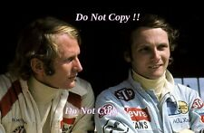 Helmut Marko BRM & Niki Lauda March F1 Portrait 1972 Photograph