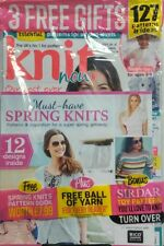 Knit Now UK Issue 74 Must Have Spring Knits 127 Patterns Ideas FREE SHIPPING sb