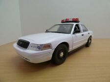 FORD CROWN VICTORIA Police blanche 1/18 sons et lumieres