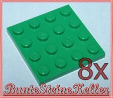 HP) 8 Stück grüne 1/3 Steine / BAUPLATTEN 4x4 BAU PLATTE in grün 3031 unbespielt