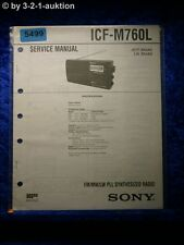 Sony Service Manual ICF M760L  PLL Synthesized Radio  (#5499)