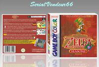 """Boitier du jeu """"ZELDA ORACLE OF SEASONS"""", Game Boy Color. HD. FR. SANS LE JEU."""
