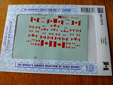 Microscale Decal HO  #MC-4372 Canadian Flags Dates:1965+