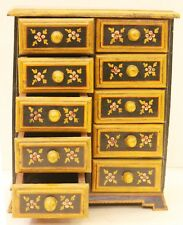 Cabinet Box Hand Painted Wooden Home Decor Art Vintage Collectible US7