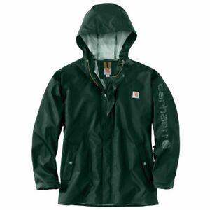 Mens Carhartt Lightweight Rainstorm Waterproof Jacket Green 103509 New With Tag