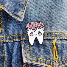 Cute Tooth Smiley Enamel Brooch Pin Denim Jacket Coat Backpack Badge Decor New