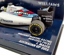 MINICHAMPS 1/43 2015 WILLIAMS MARTINI MERCEDES FW37 FELIPE MASSA 417150019 RESIN