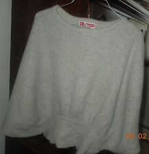 vintage michael carrie angora sweater/batwing style-beautiful soft grey
