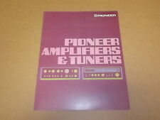 Pioneer SD-1100 SA9100 Amplifiers and TX9100 Tuners Original Brochure Catalogue