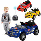 KID CHILD RACING 6V ELECTRIC RC RADIO REMOTE CONTROL RIDE ON CAR W/ MUSIC & LED