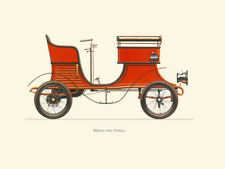 Canvas Print Vintage Car Poster Illustration - BERNA 1902 (IDEAL)