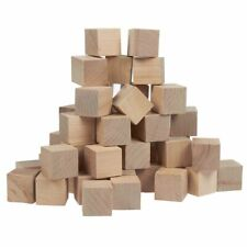 50 Pcs Small Plain Wooden Cubes, Wood Square Blocks for Crafts, DIY Projects, 1