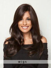 100% Real Hair! Dark Brown Long Layers And Loose Waves Human Hair Wigs