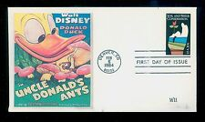#2074 1984 S & W Cons. WII Laser Cachet Disney's Uncle Donald's Ants FD1760
