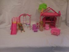 Barbie Chelsea Lot Clubhouse & Swing Set playsets Plus + Dolls + accessories
