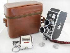 Bolex B8 Twin Lens Cine Camera + 13mm f1.9 + 36mm + CASE + LIGHT METER Gossen