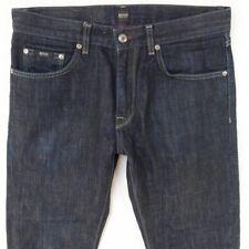 Homme Hugo BOSS Maine Slim Droit Bleu Jeans W32 L34