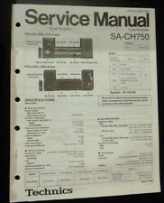 Original Service Manual  Technics Tuner Amplifier SA-CH750