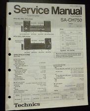 Original Service Manual  Technics Tuner Amplifier SA-CH750