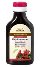 GREEN PHARMACY HERBAL BURDOCK OIL HAIR CARE NATURAL COSMETICS with red peppers