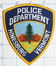 VERMONT, HINESBURG POLICE DEPT PATCH