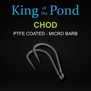 Chod hooks size 4, very sharp & strong - carp fishing, carp rigs, chod rig